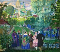 Summer province, 1922, Boris Kustodiev. #russia #art #drawing #kustodiev