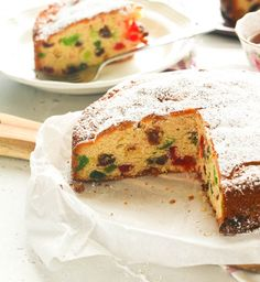 Light Fruit Cake - Immaculate Bites Light Fruit Cake Recipe, What Is Fruit, Italian Cream Cakes, Mixed Fruit, Baking Flour, Holiday Cakes, Cake Ingredients, Cake Tins, Afternoon Snacks