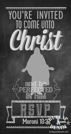 2014 LDS YW Theme Bulletin Board Come Unto Christ and be Perfected in Him