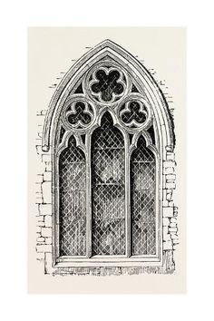 Giclee Print: Window from Meopham : Gothic Architecture Drawing, Architecture Drawing Sketchbooks, Cathedral Architecture, Architecture Drawings, Architecture Panel, Chinese Architecture, Architecture Portfolio, Concept Architecture, Ancient Architecture