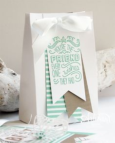 GIft Bag Punch Board, Envelope Paper, Banner Triple Punch, Friendly Wishes -Inge Groot-