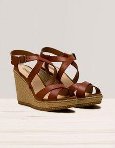 Zapato Cuña Tiras Cruzadas - Zapato - Calzado - España