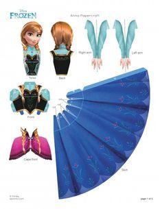 Personaje Anna de Frozen para armar