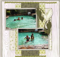 Swimming with Grandie Scrapbook Pages