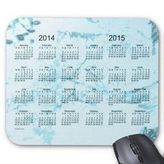 Old Turquoise Paint 2014-2015 2 Year Calendar Mousepad Design from Calendars by Janz $12.35