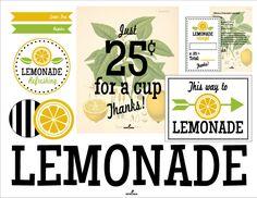 Lemonade Stand FREE Printables - Heather Carson | Design  Illustration | Surface Design and Art Licensing