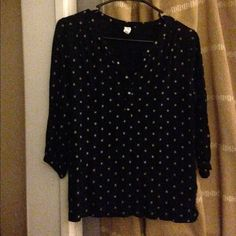 Shirt ~Old navy, size small, black and white shirt~         Enjoy!:) Old Navy Tops Blouses