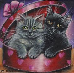 Cats Valentine Painting #Realism