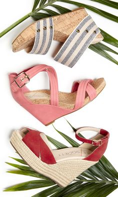 Chic summer wedges