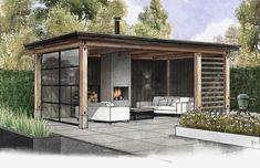 Backyard House, Backyard Sheds, Backyard Patio Designs, Backyard Landscaping, Outdoor Garden Rooms, Outdoor Pergola, Garden Room Extensions, Garden Swimming Pool, Outdoor Shelters