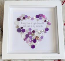 'Every Love Story' Button Heart Picture - ours is my Favourite Wedding Gift