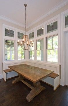 Banquette Love The Farmhouse Harvest Trestle Kitchen Table