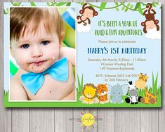 This invitation will be personalised with the partys details and the photos that you wish to add to the design. With this design you add one photo per letter. Please note: This design can be customised to change the age of the child This product is for one digital invitation