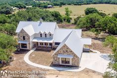 Modern Farmhouse Plan comes to life in Texas with a Hill Country exterior - photo 003 Modern Farmhouse Plans, Farmhouse Ideas, H & M Home, Farmhouse Bedroom Decor, Just Dream, House Entrance, New House Plans, Modern Exterior, The Fresh