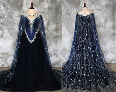 Quen of Night dress front and back Fairytale Dress, Fairy Dress, Pretty Outfits, Pretty Dresses, Moda Steampunk, Fantasy Gowns, Fantasy Outfits, Goddess Dress, Star Goddess