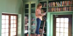 Guest in the Farmhouse library at Babylonstoren