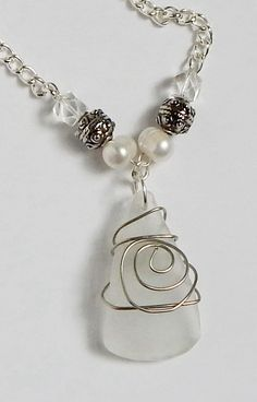wire wrapped recycled glass pendant. Recycle Glass Pendant Wire Wrap Eco Friendly Wrapped Recycled L