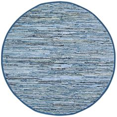 Hand-woven Matador Blue Denim/ Leather Rug (8' Round)   Overstock.com Shopping - Great Deals on St Croix Trading Round/Oval/Square