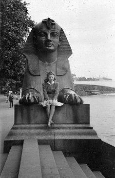 1946 By Cleopatra's Needle, Victoria Embankment,