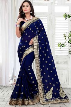 Superb Midnight Blue Saree  https://www.ethanica.com/products/superb-midnight-blue-saree