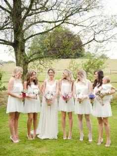 Spring chiffon wedding dress
