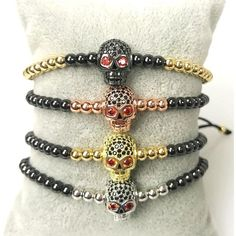 Fashion Red Eye Skull Beads Bracelets - Skullflow    https://www.skullflow.com/collections/skull-bracelets/products/fashion-red-eye-skull-beads-bracelets