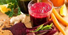 Suco purificador de beterraba e cenoura para o fígado e o sangue