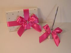 Wedding Guest Book and pen holder set -made to order ,Custom Made