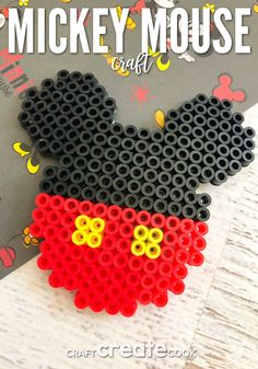 mouse crafts Our Mickey Mouse Inspired Magnet is a great craft to get you excited about Disney. We have a fun trip planned for Disney, which includes the Magic Kingdom, Animal Kingdom, Ep Melty Bead Patterns, Pearler Bead Patterns, Perler Patterns, Beading Patterns, Perler Bead Designs, Hama Beads Design, Perler Bead Disney, Perler Bead Art, Mickey Mouse Crafts