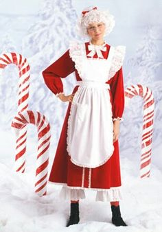 Mrs Clause Costume, Christmas Costumes, Christmas Crafts, Adult Costumes, Santa, Trending Outfits, Peanuts, Handmade Gifts, Fun