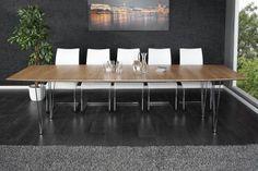 Moderner Konferenztisch CONTINENTAL Eiche Esstisch 270cm Echtholz verlängerbar