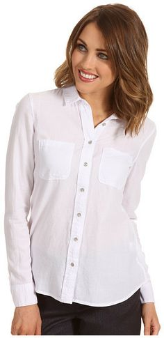 Everyone needs a clean white button up!