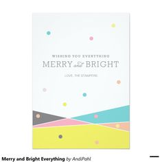 Merry and Bright Everything 5x7 Paper Invitation Card