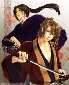 Hakuouki: Hijitaka and Okita by Gattina-chan