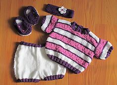 Hand knit 4pc Set For 19 to 20 Inch Baby Doll by WhisperingDreams #craftshout0208