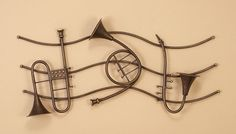 Musical Instruments Metal Wall Hanging