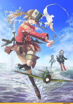 Anime,Аниме,Kantai Collection,KanColle,Amatsukaze (Kantai Collection),ryuujou (kantai collection),Tokitsukaze (Kantai Collection),nito (nshtntr),Anime Art,Аниме арт, Аниме-арт