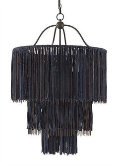 Unparalleled in craftsmanship and style, Currey and Company's bestselling Boho Chandelier is sure to dazzle! This striking fixture, inspired by DIY fashion trends, is painstakingly constructed by hang