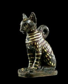 Bastet - the feline goddess usually depicted as maternal/protective but also considered fierce as cats could kill deadly snakes. Cats In Ancient Egypt, Ancient Egypt History, Old Egypt, Ancient Egyptian Art, Ancient Aliens, Objets Antiques, Kemet Egypt, Egyptian Cats, Art Antique