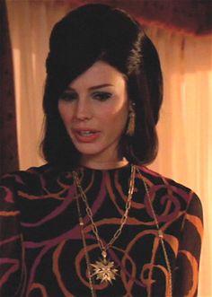 My Trifari tassel earrings show up on Megan in the latest Season 6 episode, The Crash.