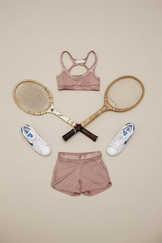 Yoga Clothes : Tennis wear still life photographed by Carl Kleiner, styled by Julie von Hofsten Tennis Wear, Le Tennis, Tennis Party, Tennis Tips, Sport Tennis, Tennis Dress, Cheap Athletic Wear, Athletic Outfits, Tennis Fashion