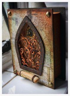Altered book shrine - Gorgeous!