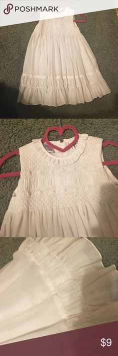 White toddler dress Little girls white dress with flowers and ruffles at the bottom great for Easter or any spring Occasion, has never been worn Dresses Formal