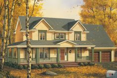 Houseplans.com Country / Farmhouse Other Elevation Plan #48-134