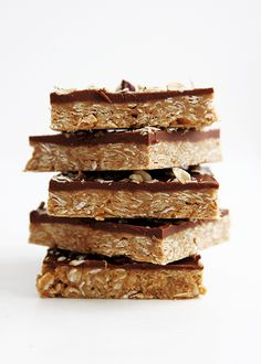 No-bake peanut butter granola bars made with Justin's. For the peanut butteriest of folks.