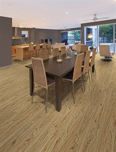"Show details for Home Legend Nú Elements Hickory Natural-7"" wide, Luxury Vinyl Tile, Laminate floor alternative, Embossed, Wide plank, Light Brown Floor"