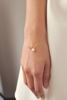 Gold Infinity Bracelet 14K Gold Filled Chain
