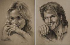 Голливудские звезды в простом карандаше : шедевры портретной графики. Обсуждение на LiveInternet - Российский Сервис Онлайн-Дневников