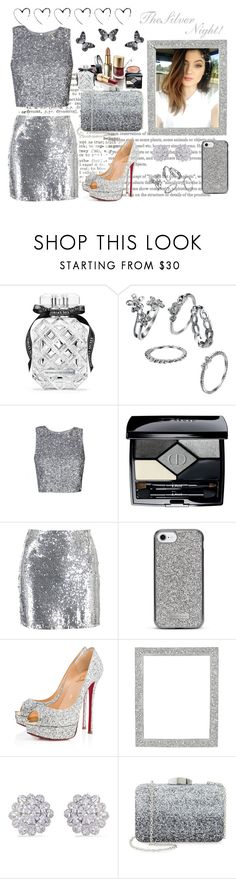"""""""The SiLveR NiGHT!!"""" by nejry ❤ liked on Polyvore featuring Ultimo, Victoria's Secret, Christian Dior, Boohoo, Nanette Lepore, Christian Louboutin, Frontgate, CZ by Kenneth Jay Lane, Nordstrom and Visionnaire"""