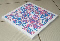 ORIGINAL Modern Abstract Circles Art  Pink and Blue by shauno, $50.00